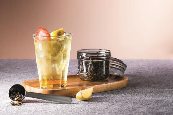 Ledový zelený čaj s ženšenem a citronem