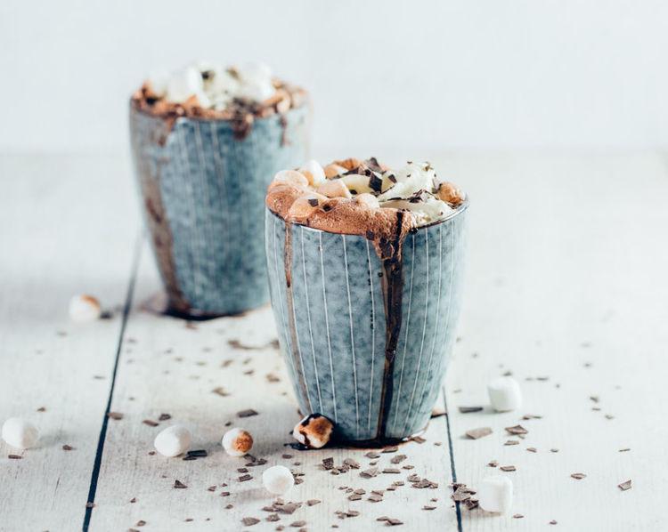 horka cokolada s marshmallow