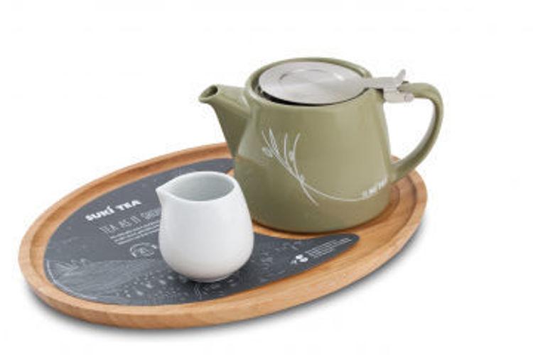 Obrázek ForLife konvička na čaj šedá, 400 ml