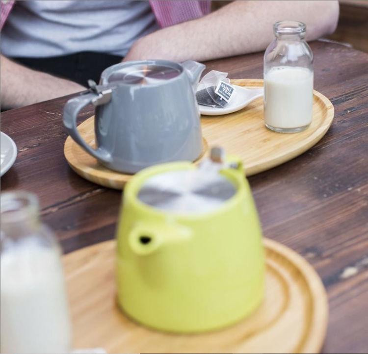 Obrázek ForLife konvička na čaj šedá, 530 ml
